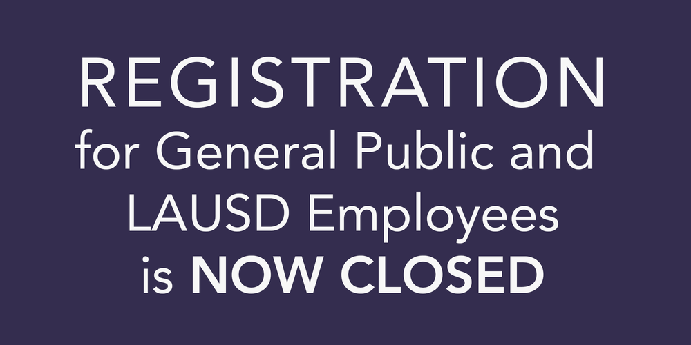 REGISTRATION for General Public is now CLOSED